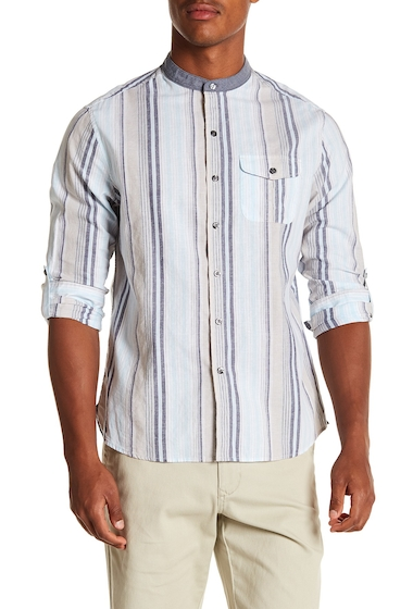 Imbracaminte Barbati MICHAEL BASTIAN Colorblock Stripe Regular Fit Shirt SKY