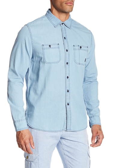 Imbracaminte Barbati MICHAEL BASTIAN Washed Topstitched Denim Shirt BLEACH WASH