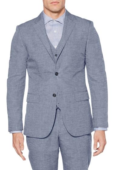 Imbracaminte Barbati Perry Ellis Linen Blend Regular Fit Blazer BIJOU BLUE