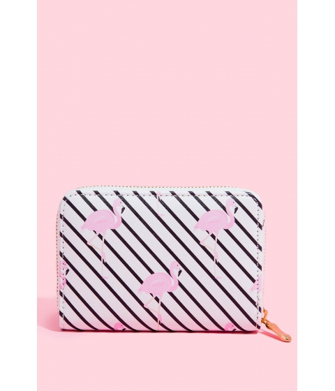 Genti Femei CheapChic Flamingo Zip Around Wallet FuchsiaPink Print