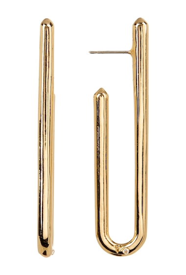 Bijuterii Femei Vince Camuto Narrow Curved J Hoop Earrings GOLD 01