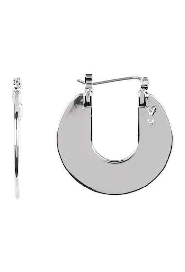 Bijuterii Femei Vince Camuto Open Disc 25mm Hoop Earrings SILVER 01