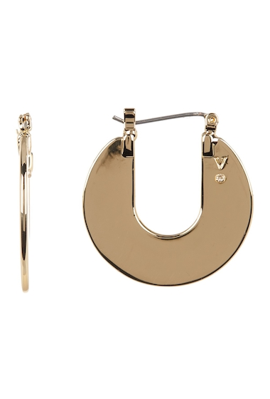 Bijuterii Femei Vince Camuto Open Disc 25mm Hoop Earrings GOLD 01