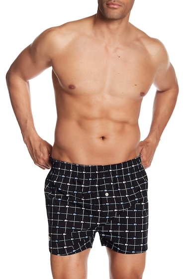 Imbracaminte Barbati Lacoste Logo Check Woven Boxer BLACK