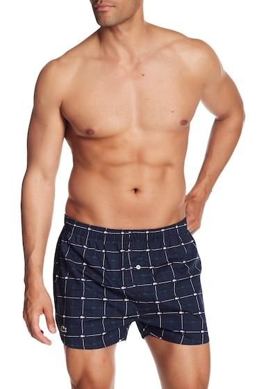 Imbracaminte Barbati Lacoste Logo Check Woven Boxer NAVY