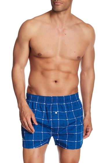 Imbracaminte Barbati Lacoste Logo Check Woven Boxer TRUE BLUE