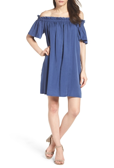 Imbracaminte Femei French Connection Stayton Off the Shoulder Dress WSHD INDIG