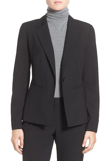 Imbracaminte Femei Halogen Ela One-Button Stretch Suit Jacket BLACK
