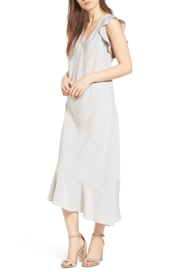 Imbracaminte Femei Leith Bias Cut Asymmetrical Dress BLUE PEARL