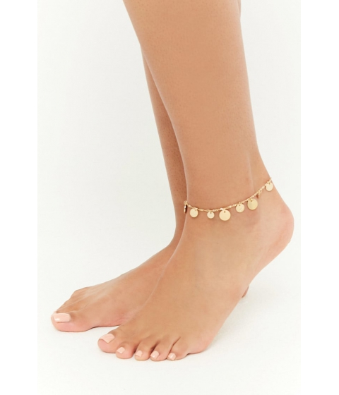 Bijuterii Femei Forever21 Disc Charm Anklet GOLD