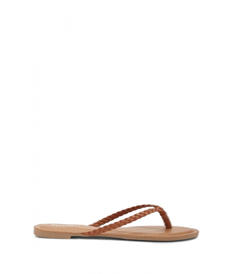 Incaltaminte Femei Forever21 Faux Leather Braided Thong Sandals TAN