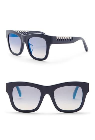 Ochelari Femei Stella McCartney Womens 49mm Laced Chain Square Sunglasses BLUE-BLUE-BLUE