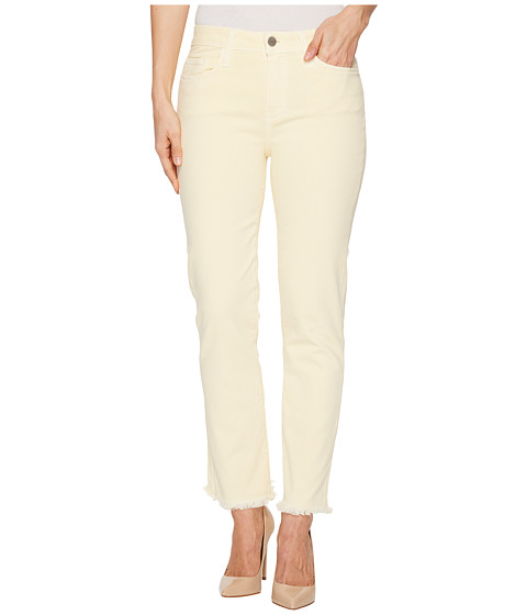 Imbracaminte Femei Paige Hoxton Straight Ankle 27quot w Heavy Fray Hem in Faded Pastel Yellow Faded Pastel Yellow