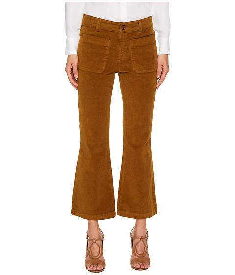 Imbracaminte Femei See by Chloe Velvet Crop Kick Flare Pants Bronze Brown