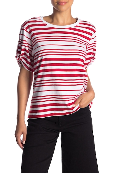 Imbracaminte Femei Abound Striped Tie Sleeve Tee RED CTRE AWNG ST