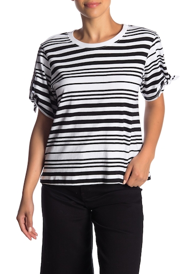 Imbracaminte Femei Abound Striped Tie Sleeve Tee BLCK AWNING STR