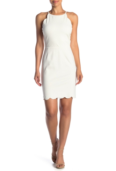 Imbracaminte Femei LOVEAdy Scalloped Bodycon Dress IVORY