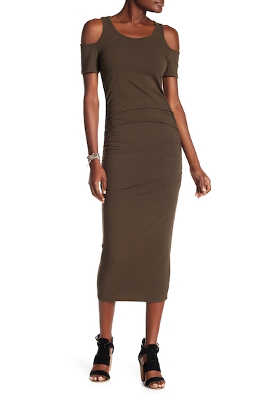 Imbracaminte Femei Michael Stars Ruched Cold Shoulder Dress OLIVE