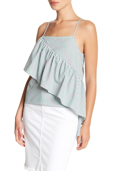 Imbracaminte Femei Abound Seersucker Ruffle Panel Tank Top NVY PCT SLVA STR