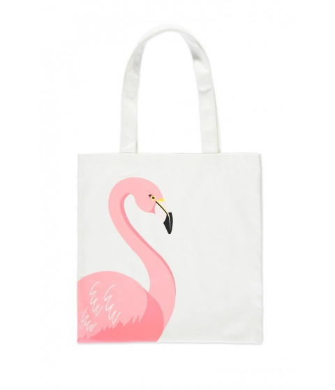 Genti Femei Forever21 Flamingo Graphic Tote Bag WHITEPINK