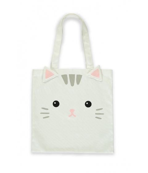 Genti Femei Forever21 Cat Graphic Tote Bag WHITEMULTI