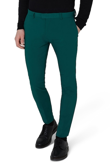Imbracaminte Barbati TOPMAN Skinny Fit Suit Trousers GREEN