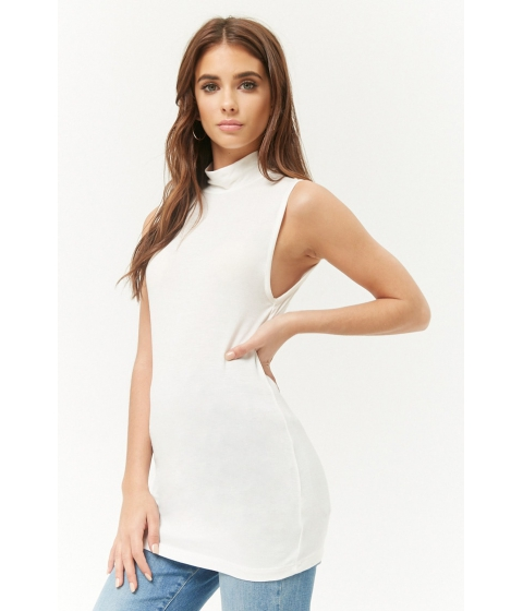 Imbracaminte Femei Forever21 Sleeveless Mock Neck Top IVORY