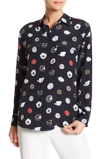Imbracaminte Femei Equipment Mixed Print Signature Silk Shirt ECLIPSE MU