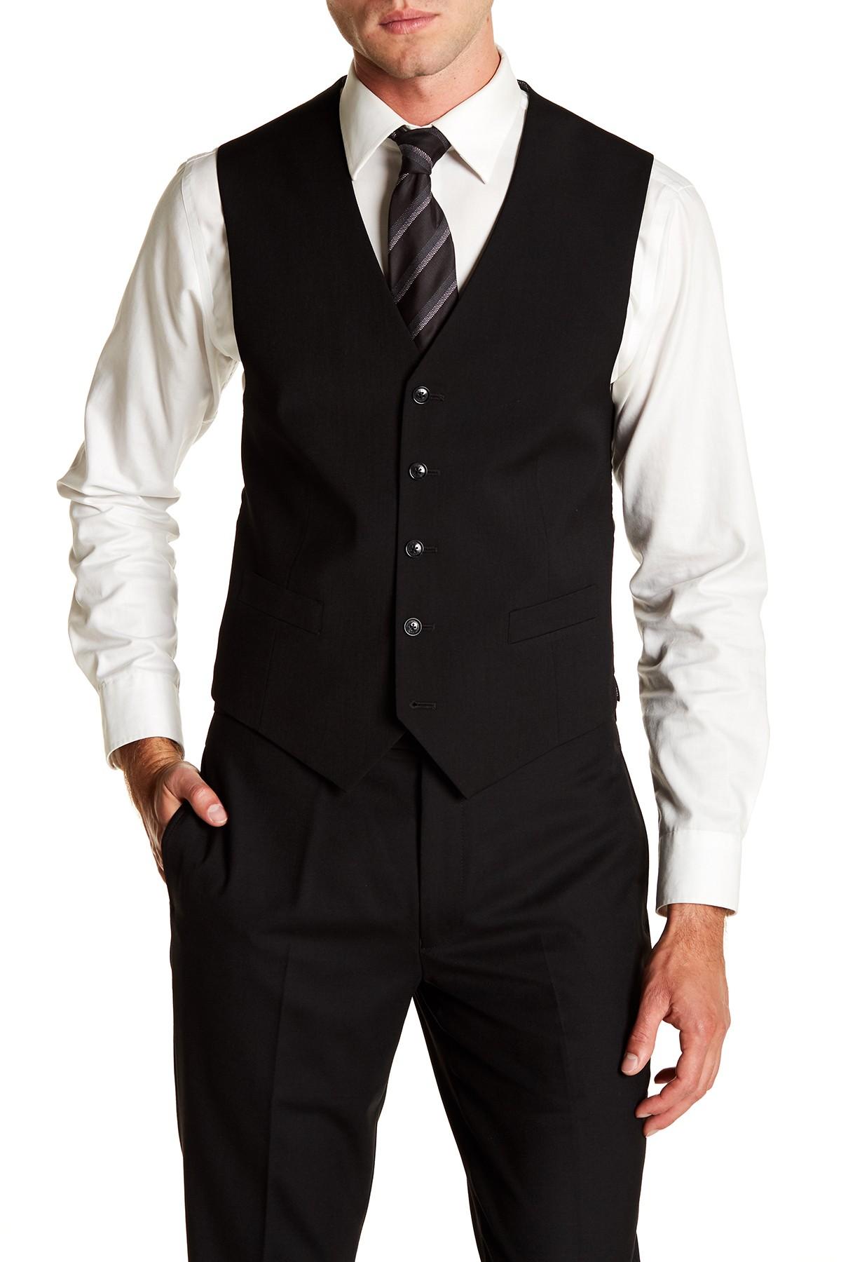 Imbracaminte Barbati Tommy Hilfiger Hayes Modern Fit Suit Separates Vest BLACK