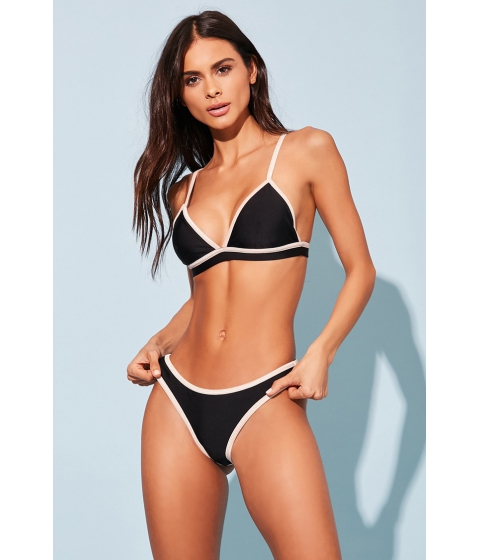 Imbracaminte Femei Forever21 Stretch-Knit Bikini Bottoms BLACKNUDE