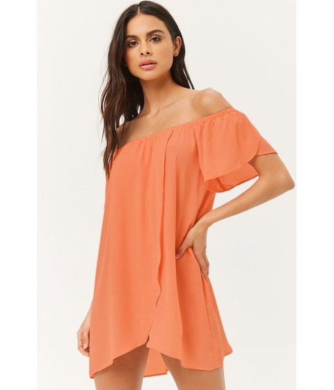 Imbracaminte Femei Forever21 Off-the-Shoulder Swim Cover-Up Dress CORAL