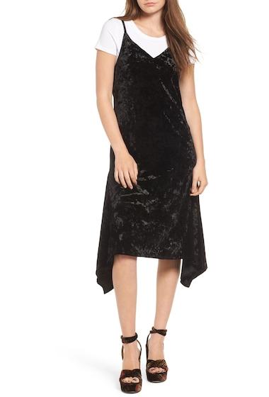 Imbracaminte Femei Leith Velour Slipdress BLACK