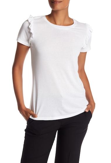 Imbracaminte Femei Como Vintage Ruffle Sleeve Tee WHITE