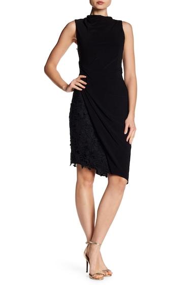 Imbracaminte Femei Vera Wang Mock Neck Jersey Dress BLACK