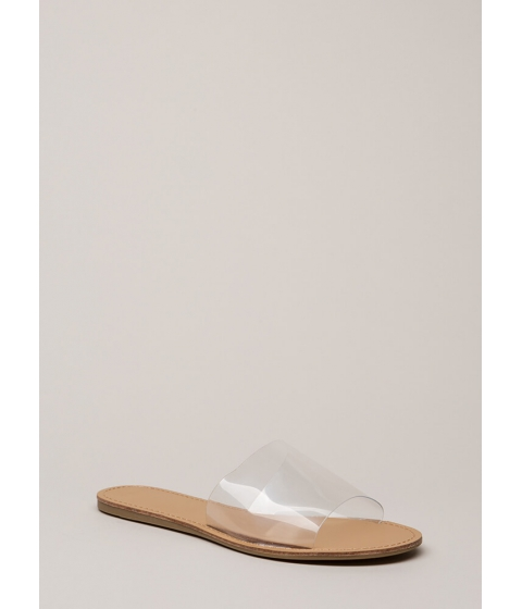 Incaltaminte Femei CheapChic Clearly Minimalist Slide Sandals Clear