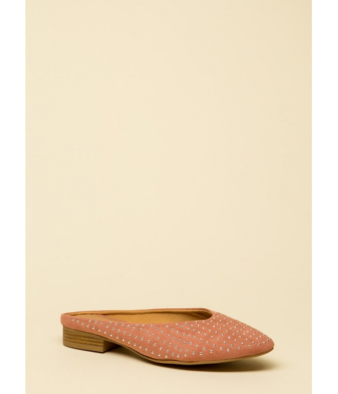Incaltaminte Femei CheapChic Dot Your Eyes Studded Mule Flats Dustyblush