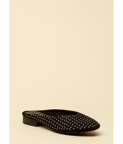 Incaltaminte Femei CheapChic Dot Your Eyes Studded Mule Flats Black