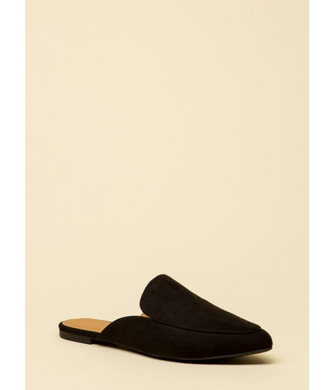 Incaltaminte Femei CheapChic Nice And Easy Slip-on Smoking Flats Black