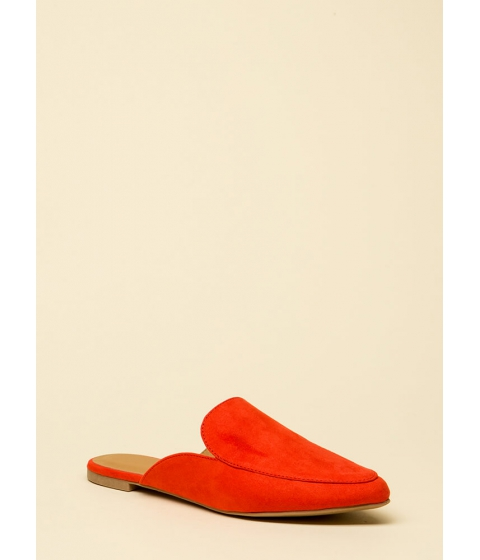 Incaltaminte Femei CheapChic Nice And Easy Slip-on Smoking Flats Bloodorange
