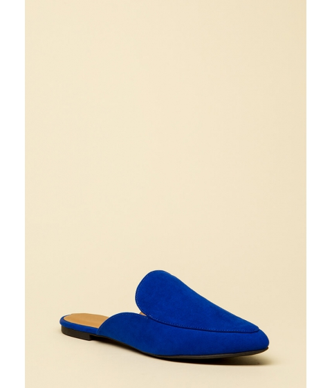Incaltaminte Femei CheapChic Nice And Easy Slip-on Smoking Flats Cobaltblue