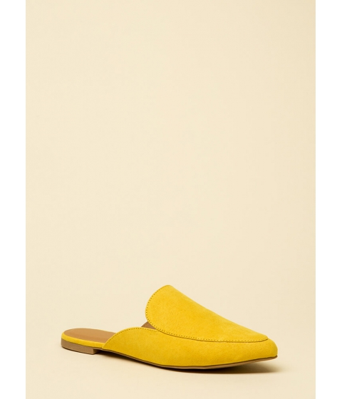 Incaltaminte Femei CheapChic Nice And Easy Slip-on Smoking Flats Yellow
