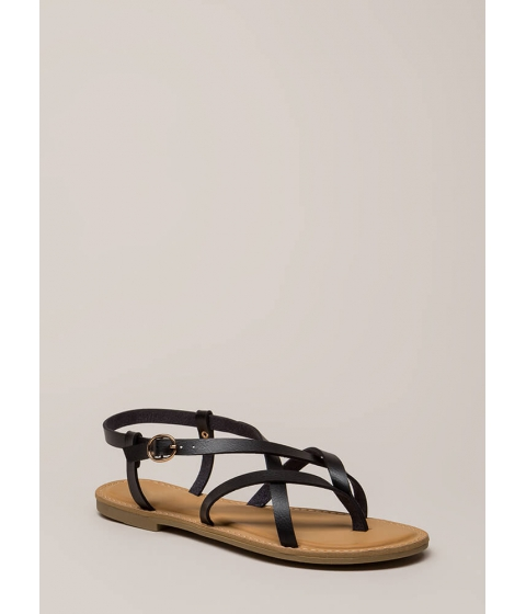 Incaltaminte Femei CheapChic You Make Me So Strappy Caged Sandals Black