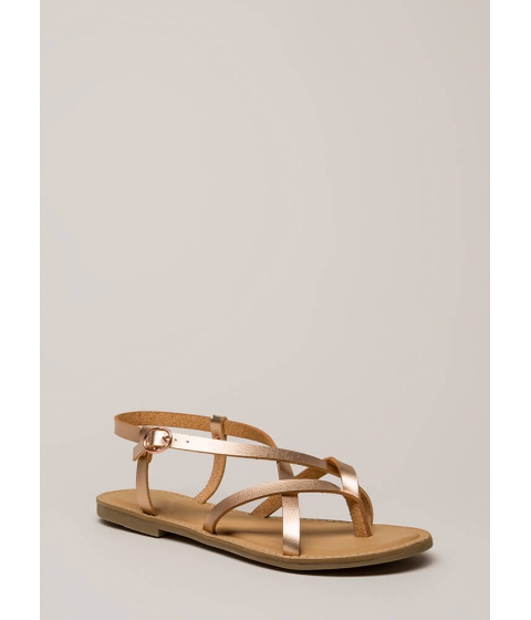 Incaltaminte Femei CheapChic You Make Me So Strappy Caged Sandals Rosegold