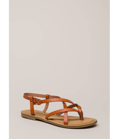 Incaltaminte Femei CheapChic You Make Me So Strappy Caged Sandals Tan