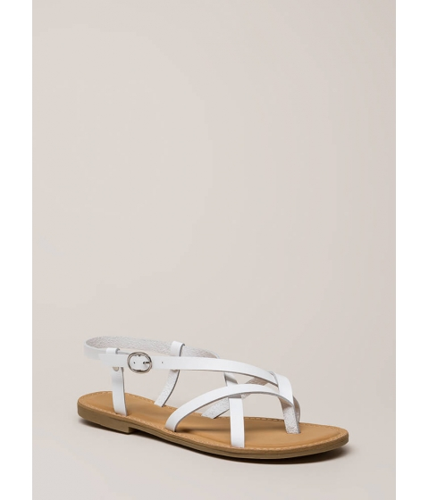 Incaltaminte Femei CheapChic You Make Me So Strappy Caged Sandals White