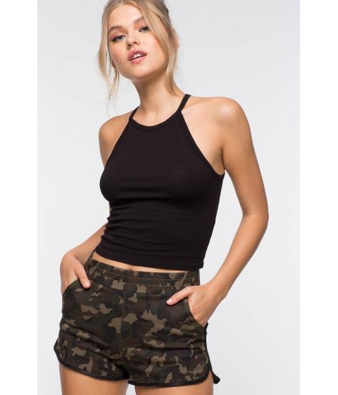 Imbracaminte Femei CheapChic Goddess Neckline Crop Tank Black
