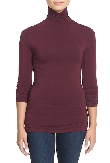 Imbracaminte Femei Halogen Long Sleeve Turtleneck Regular Petite BURGUNDY STEM