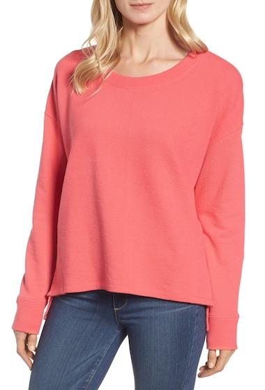 Imbracaminte Femei Caslon Side Slit Relaxed Sweatshirt PINK RIBBON