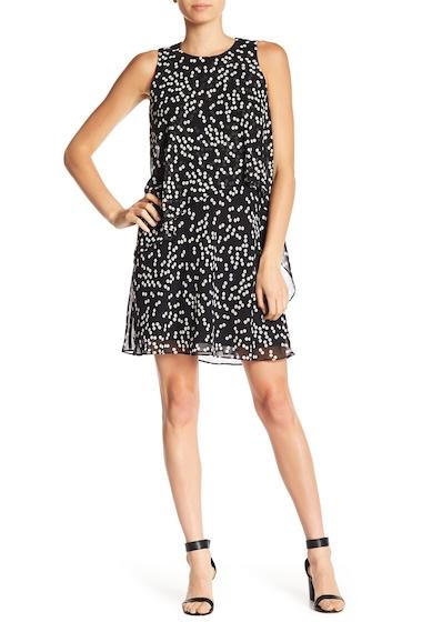 Imbracaminte Femei AK Anne Klein Layered A-Line Dot Print Dress BLACK PARCHMENT