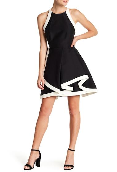 Imbracaminte Femei Halston Heritage Exposed Layer Dress BLACKCHALK
